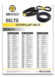 Каталог ремней для двигателей Caterpillar, Komatsu, Volvo и другой техники CGR Ghinassi (PDF)