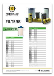 Каталог фильтров для техники Caterpillar CGR Ghinassi (PDF)